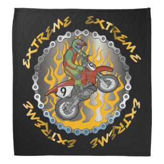 Extreme Motocross Racing Flames Bandana Bandanas