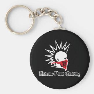 Extreme Punk Logo Button Key Ring