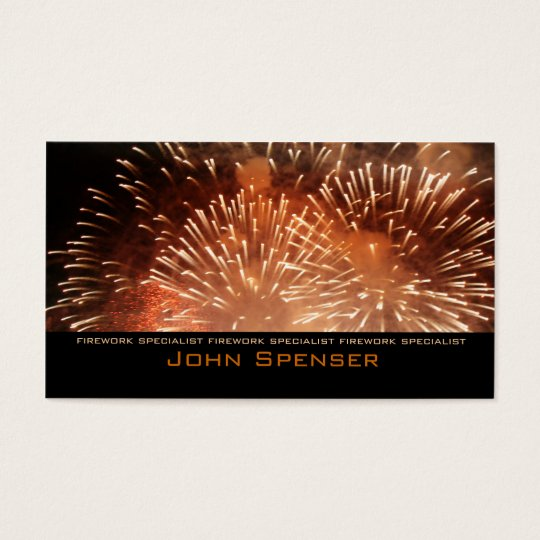 Extreme Pyrotechnics - Firework Specialist Card