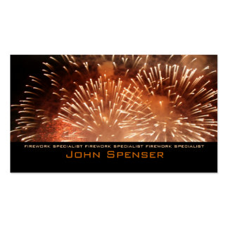 Extreme Pyrotechnics - Firework Specialist Card Business Cards