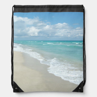 Extreme Relaxation Beach View Drawstring Bag