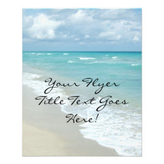 Extreme Relaxation Beach View White Sand 11.5 Cm X 14 Cm Flyer