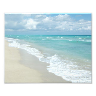 Extreme Relaxation Beach View White Sand Photo Print