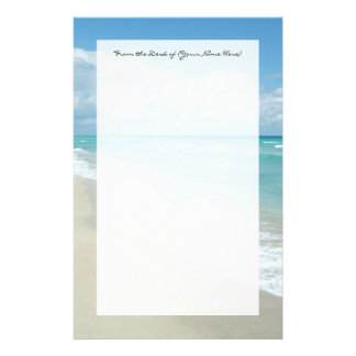 Extreme Relaxation Beach View White Sand Stationery Paper