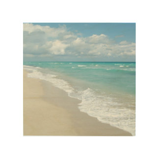 Extreme Relaxation Beach View Wood Print
