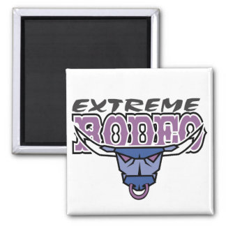 Extreme Rodeo Square Magnet