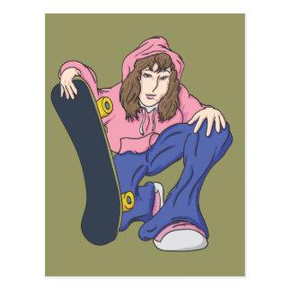 Extreme Skater Girl Postcard