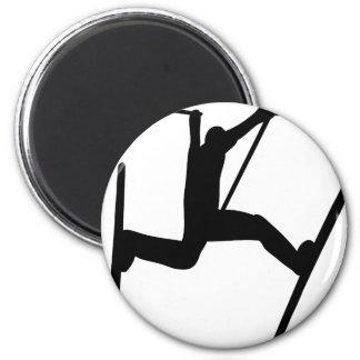 extreme ski jump magnet
