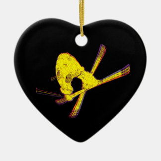 eXtreme Ski X Freestyle Ceramic Heart Decoration
