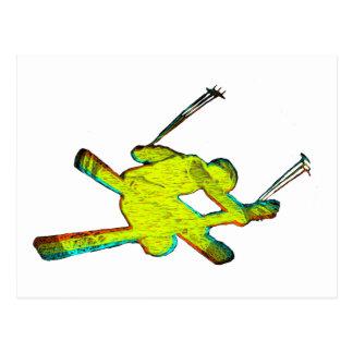 Extreme Skier Postcard