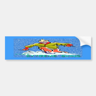 Extreme Skiing Bumper Sticker