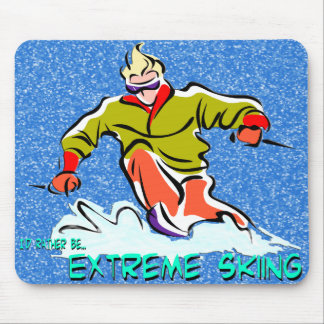 Extreme Skiing Mouse Pad