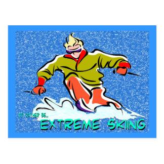 Extreme Skiing Postcard