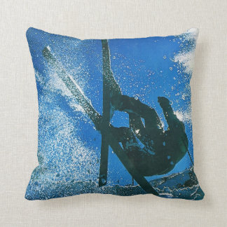 Extreme skiing, throw pillow