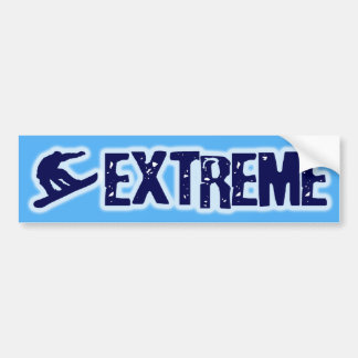 EXTREME SNOWBOARDING BUMPER STICKERS