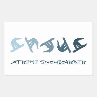 Extreme Snowboarding Rectangular Stickers