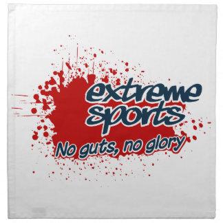 EXTREME SPORTS custom cloth napkins