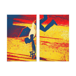 Extreme Sports Freestyle Skateboard Trick Stretched Canvas Print