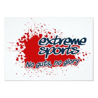 Extreme Sports invitation, customize 13 Cm X 18 Cm Invitation Card