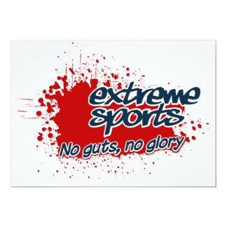 Extreme Sports invitation, customize Card