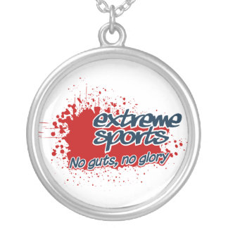 Extreme Sports necklace, customizable Silver Plated Necklace
