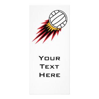 extreme volleball spike design rack card design
