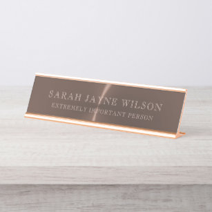 d3b874aada85 Extremely Important Rose Gold Desk Name Plate