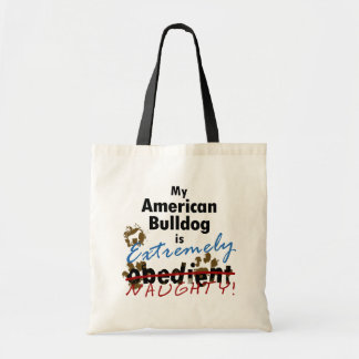 Extremely Naughty American Bulldog Tote Bag