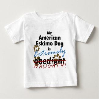 Extremely Naughty American Eskimo Dog Baby T-Shirt