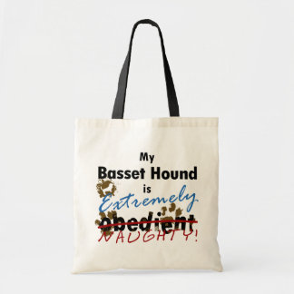 Extremely Naughty Basset Hound Canvas Bag