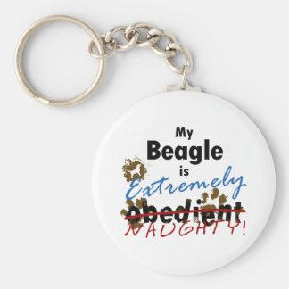 Extremely Naughty Beagle Key Ring