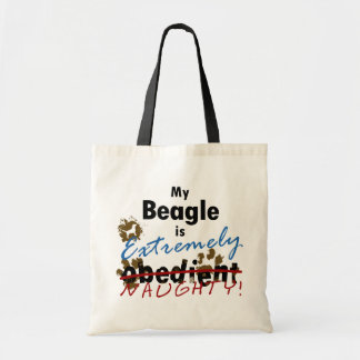 Extremely Naughty Beagle Budget Tote Bag