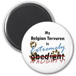 Extremely Naughty Belgian Tervuren 6 Cm Round Magnet