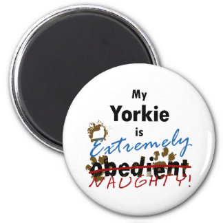 Extremely Naughty Yorkie Magnet