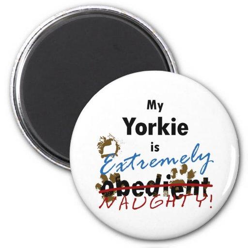 Extremely Naughty Yorkie Fridge Magnet