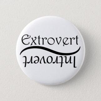 Extrovert-Introvert 6 Cm Round Badge