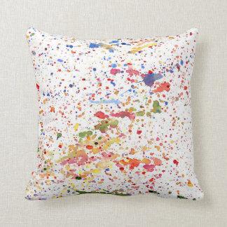 Exuberant Splatter Throw Pillow