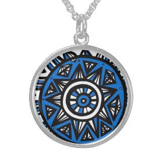 Exuberant Unassuming Understanding Lucky Round Pendant Necklace