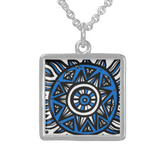 Exuberant Unassuming Understanding Lucky Square Pendant Necklace