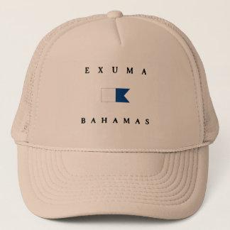 Exuma Bahamas Alpha Dive Flag Trucker Hat
