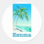 Exuma, Bahamas Round Sticker
