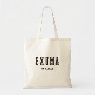 Exuma Bahamas Tote Bag