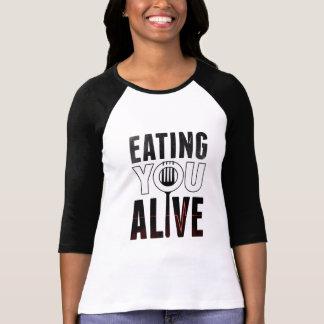 EYA logo - 3/4 Sleeve Raglan T-Shirt