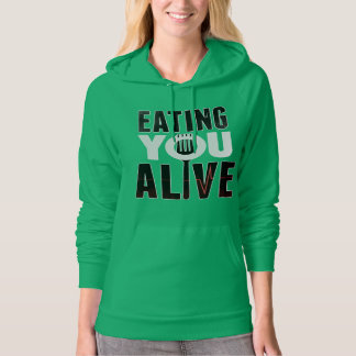 EYA logo - Hooded Sweatshirt green