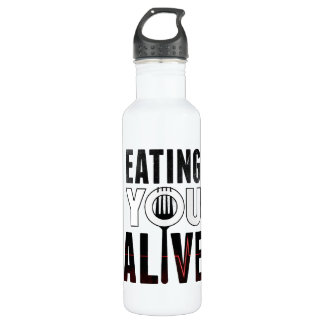 EYA logo - water bottle (24 oz), White 710 Ml Water Bottle