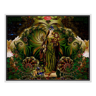 Eyasha Goddess of Peace and Tranquility Posters