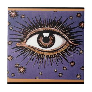 Eye and Stars Tile