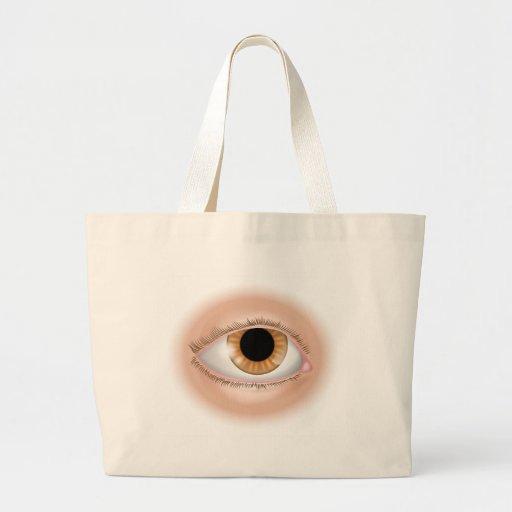 Eye body part illustration tote bags