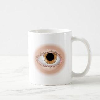 Eye body part illustration coffee mugs