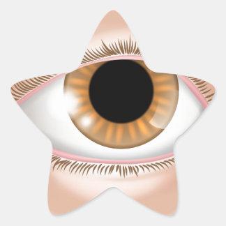 Eye body part illustration star sticker
